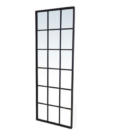Black Iron Windows Mirror