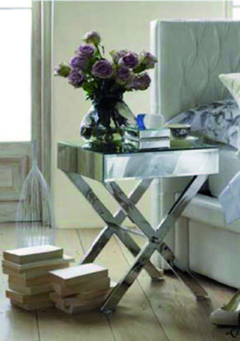 METAL & MIRROR Side Table