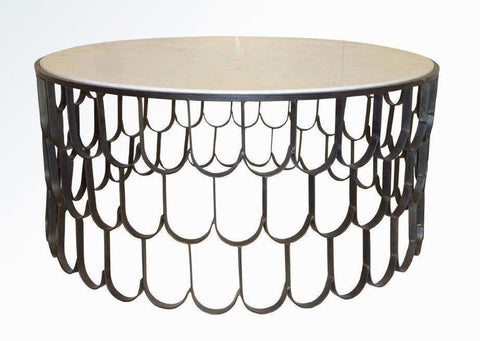 FISH SCALE COFFEE TABLE DARK BRONZE