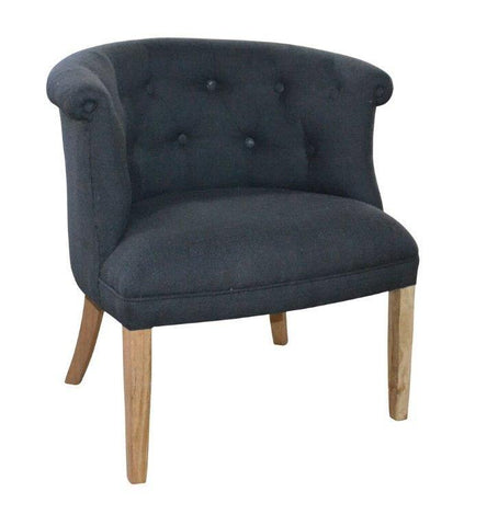 Luna Chair - Charcoal Linen