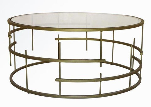 MUNICH COFFE TABLE ANTIQUE GOLD