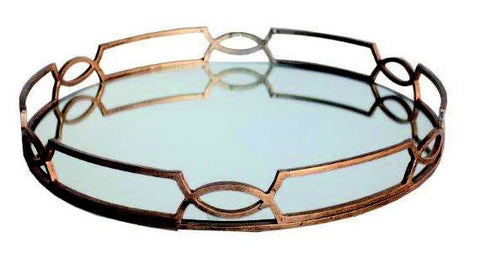 MIRROR TRAY - Antique Gold