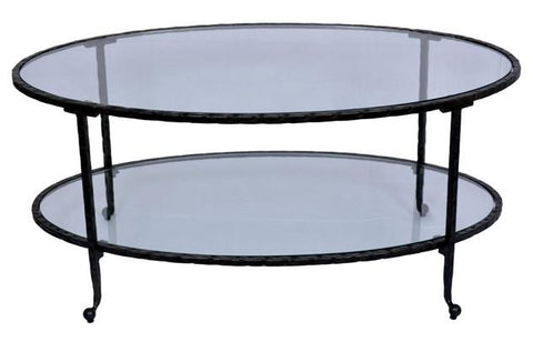 OVAL COFFE TABLE - Dark Bronze