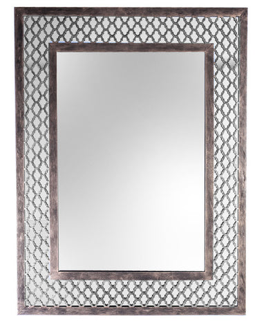 QUADREFOIL MIRROR - Antique Gold
