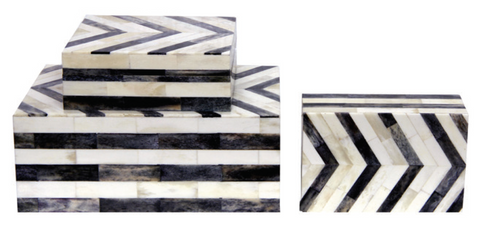 Chevron Natural Bone Box (Series 05)