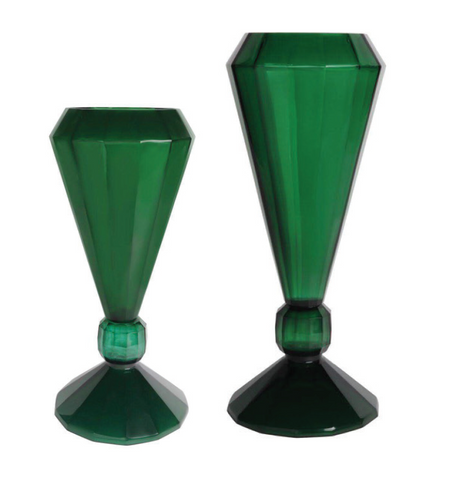 Diamond Jade Vase Green