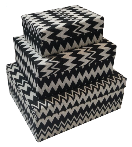 IKAT Fabric Box Zigzag 012