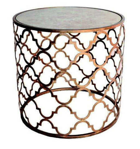 QUADREFOIL SIDE TABLE - Antique Gold