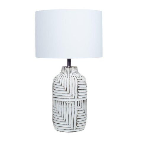 White Fern Lamp