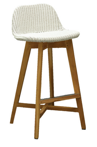 Santorini Lloyd Loom Low Back Stool - 660