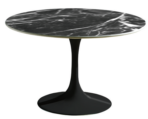 Tulip Side Table - Black Marble
