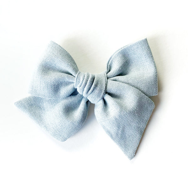 Dusty Blue Linen