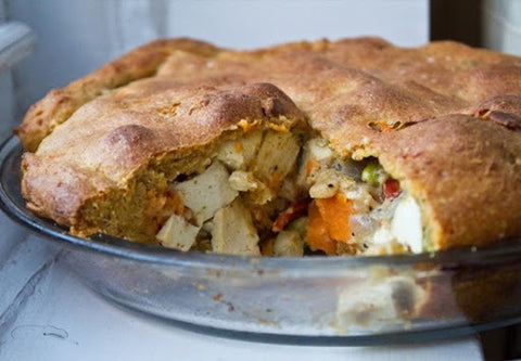 rustic veggie pot pie