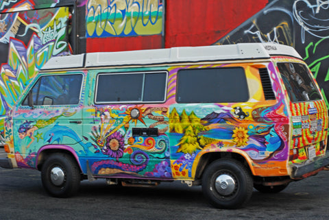 painted volkswagon westfalia