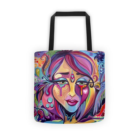 artistic canvas tote bag