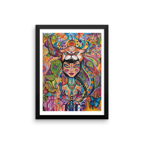 """Daughter of Aya"" Framed Poster Print"