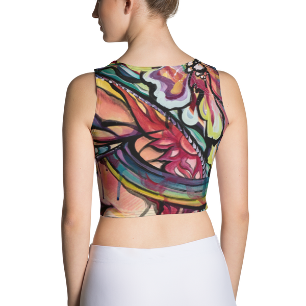 Rainbow Vortex Sublimation Cut & Sew Crop Top