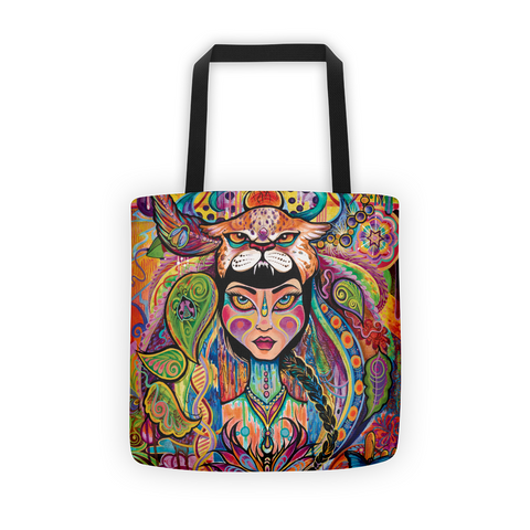 """Daughter of Aya"" Art Canvas Tote Bag"