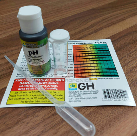 General Hydroponics PH Test Indicator Solution