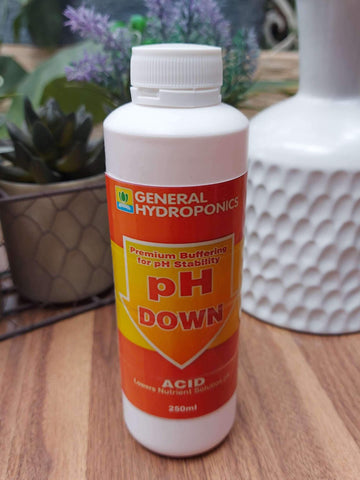 General Hydroponics pH Down Liquid Solution 250ML