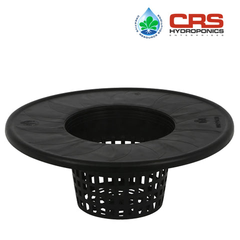 Mesh Pot Bucket Lid 6 in. - Fits 5 Gallon Buckets Net Cup Hydroponics Drip System