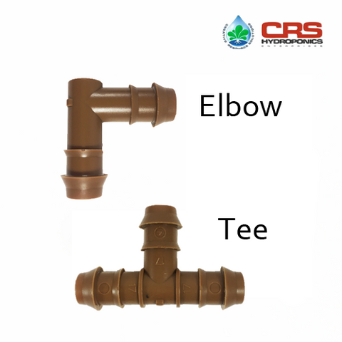 "Barbed Drip - Elbow and Tee (1/2"")"