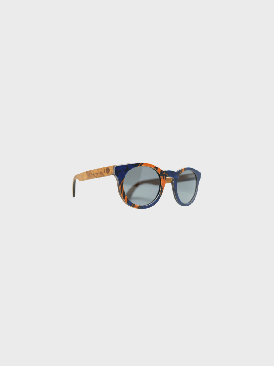 Owl - Orange African Wax Sunglasses