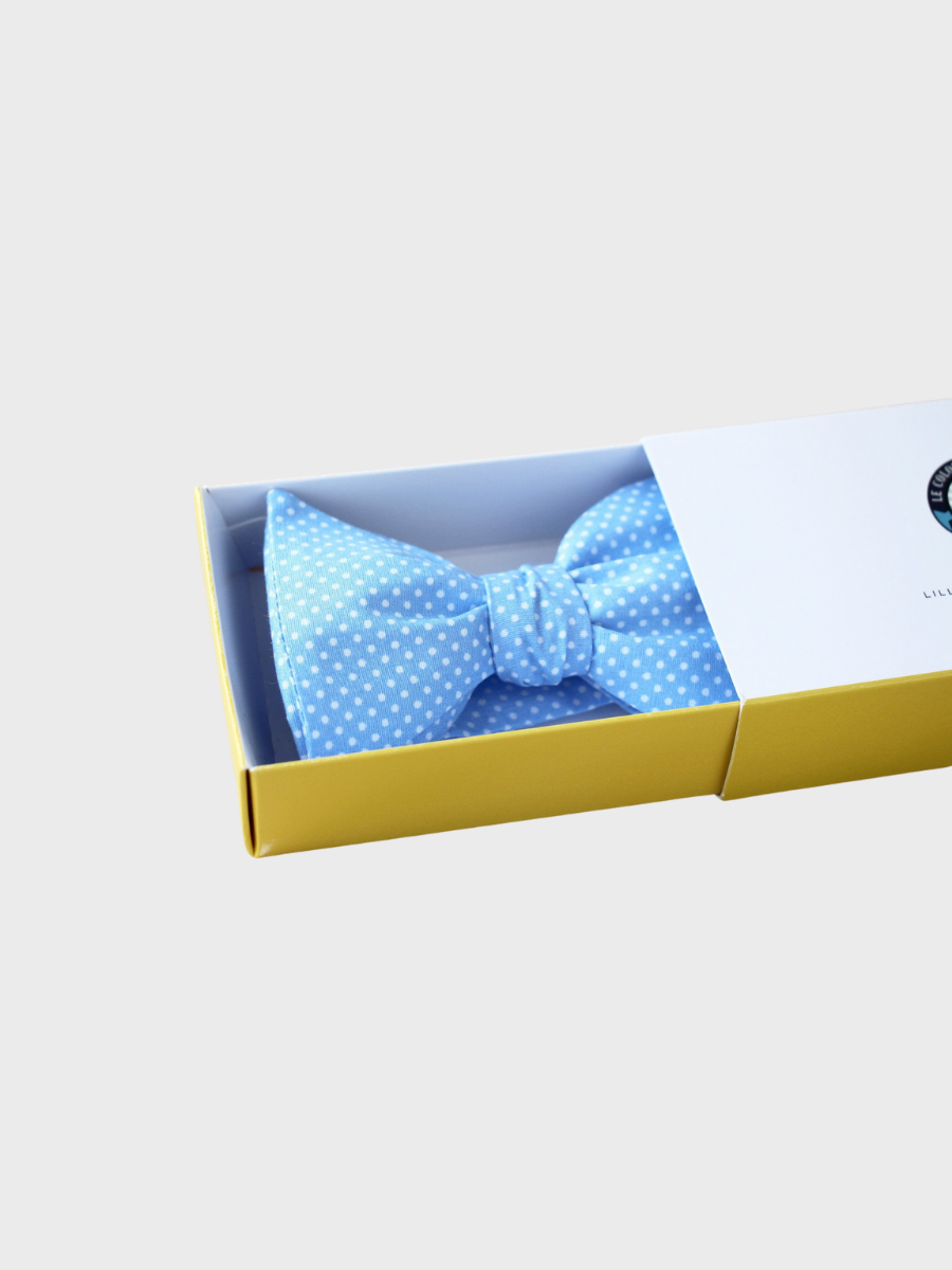 Bow Tie - Pale blue with Pin Dots - The Great Diggers