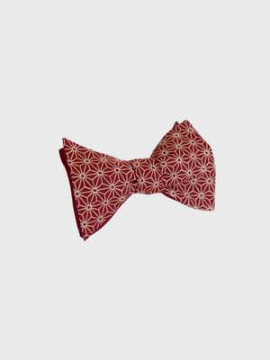 Bow Tie - Burgundy Asanoha Japanese - The Great Diggers