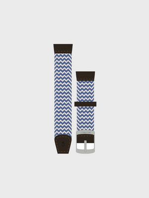 Braided Watch Strap - White & Blue - The Great Diggers