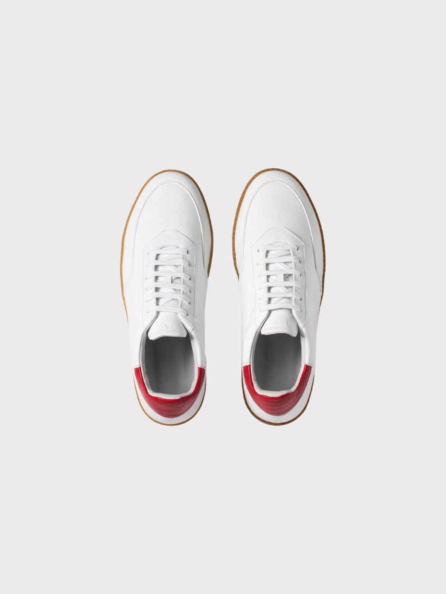 Atlas White Red | JAK Shoes | Made in Portugal