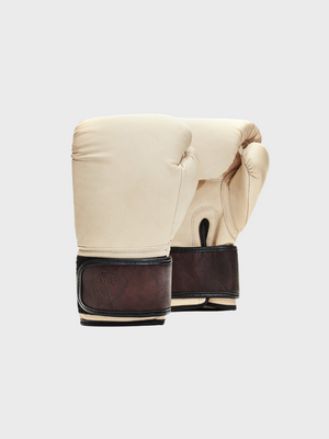 MVP Modern Vintage Player New Zealand handmade cream & brown leather boxing gloves strap up the great diggers