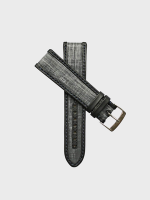 Grey Carbon Sailcloth Watch Strap - The Great Diggers