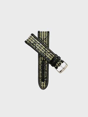 Yellow Carbon Sailcloth Watch Strap - The Great Diggers
