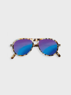 #I SUN - Sunglasses Blue Tortoise Mirror Izipizi The Great Diggers