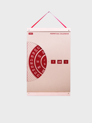 Perpetual Calendar office handmade Red TAIT Design