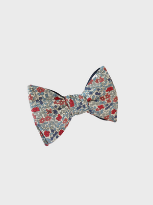 Bow Tie - Red/Blue Emilia Flowers - The Great Diggers