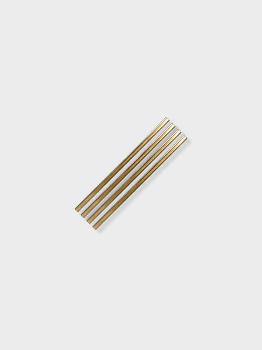 W&P metal straw silver gold copper cocktail