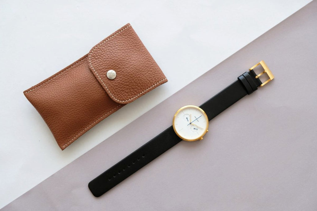 Luxury individual leather brown Watch Travel Pouch Avel & Men the great diggers