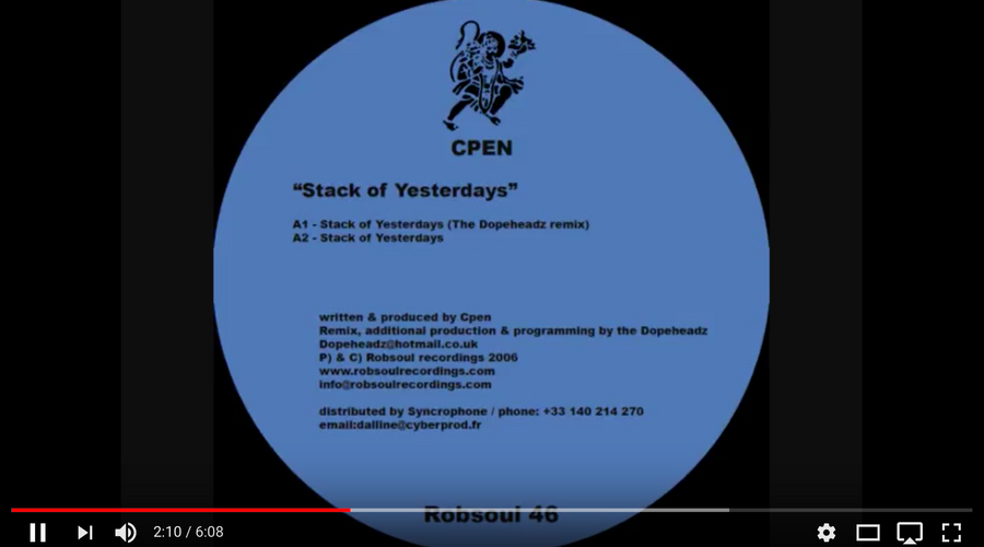 Cpen – Stack of Yesterdays