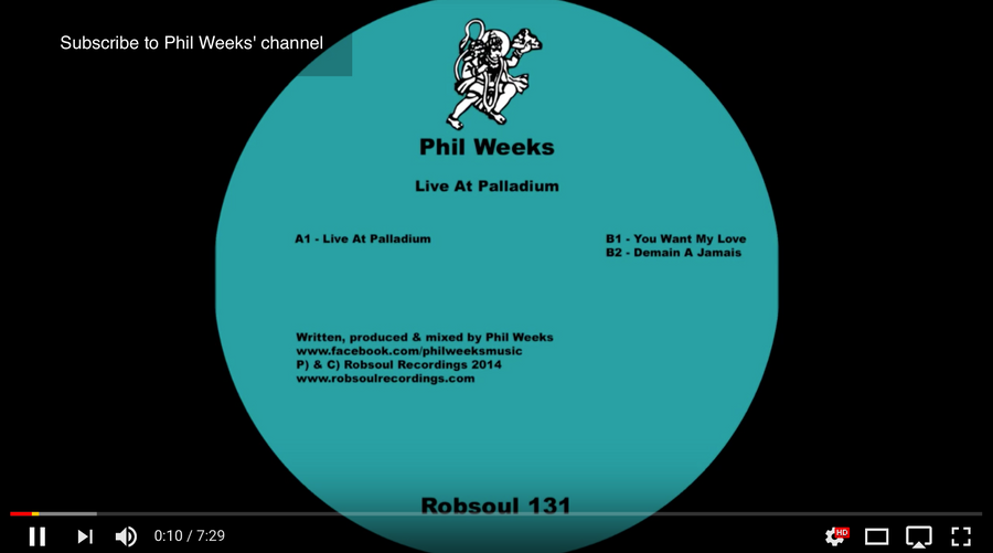 Phil Weeks – Live At Palladium
