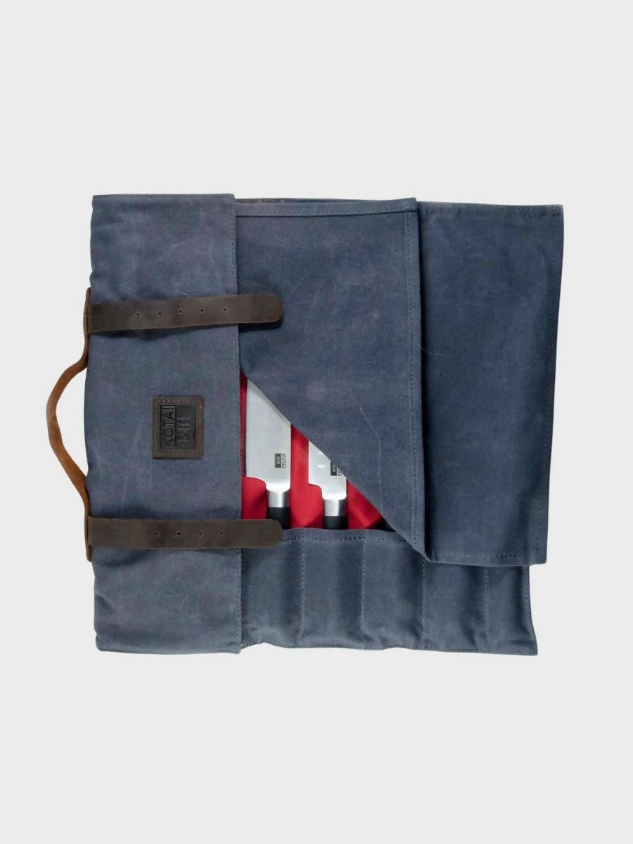 Knife Leather Canvas Roll-up Bag - The Great Diggers