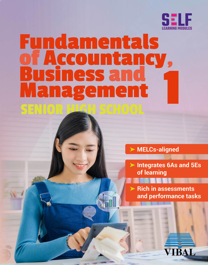 Self-Learning Modules: Fundamentals of Accountancy , Business and Management 1