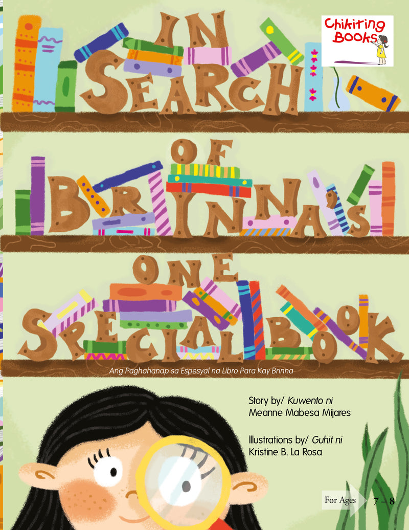 In Search of Brinna's One Special Book