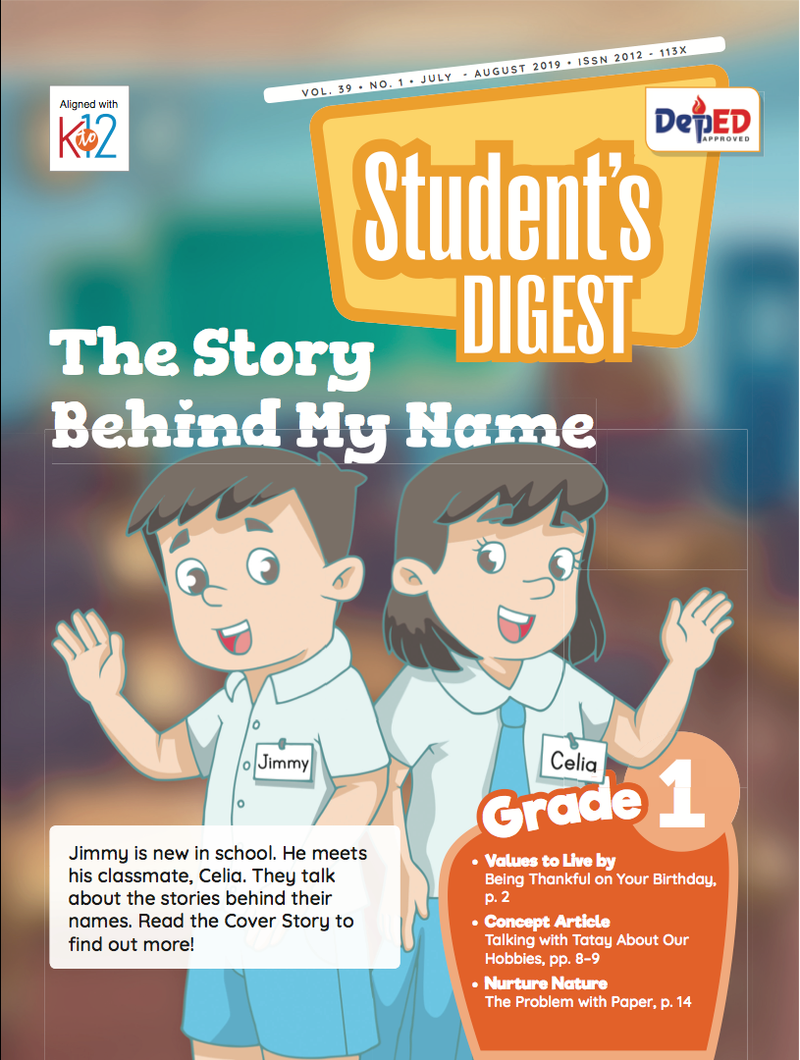 Student Digest Magazine Grade 1 (Issue 1 2019)