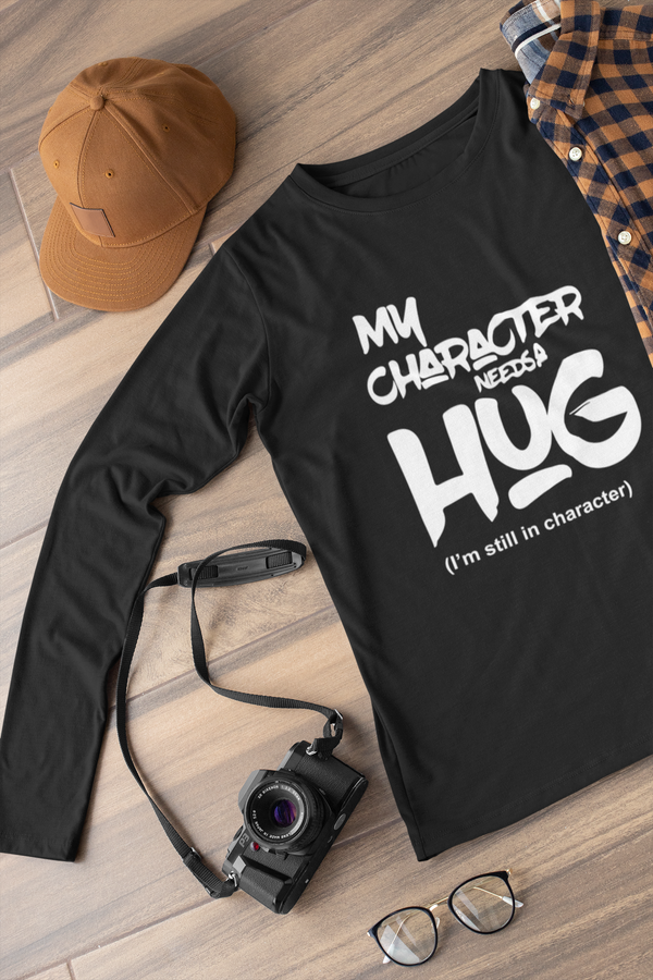 My character need a hug Long sleeve t-shirt