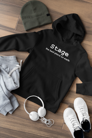Stage the best place on earth Kids Hoodie