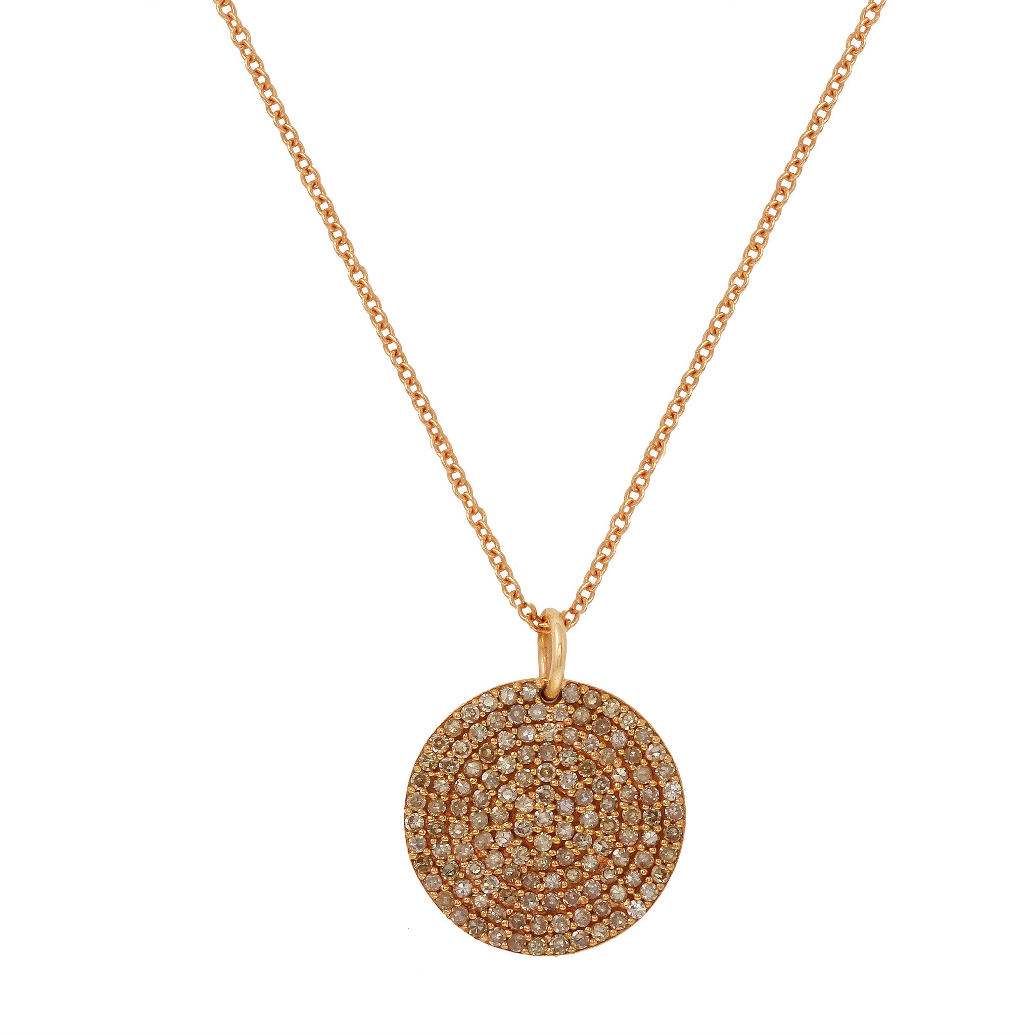 Rose Gold and Pavé Diamond Necklace