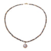 Beaded Moonstone Necklace with Pearl Drop