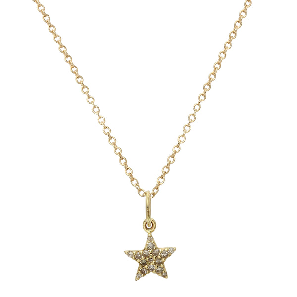 Pavé Diamond Star Necklace